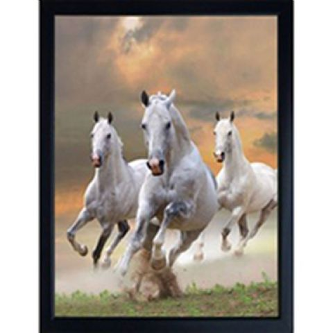 HORSE 3D FRIDGE MAGNET White horses